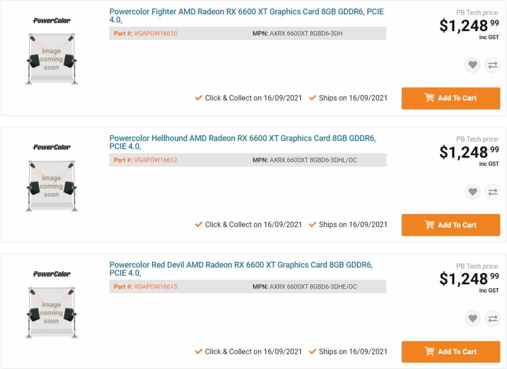 PowerColor Radeon RX 6600 XT Custom Models Listed Online, 8 GB GDDR6 Memory & Red Devil Flavors
