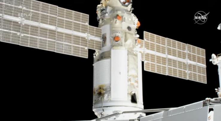 ISS Nauka Module docking