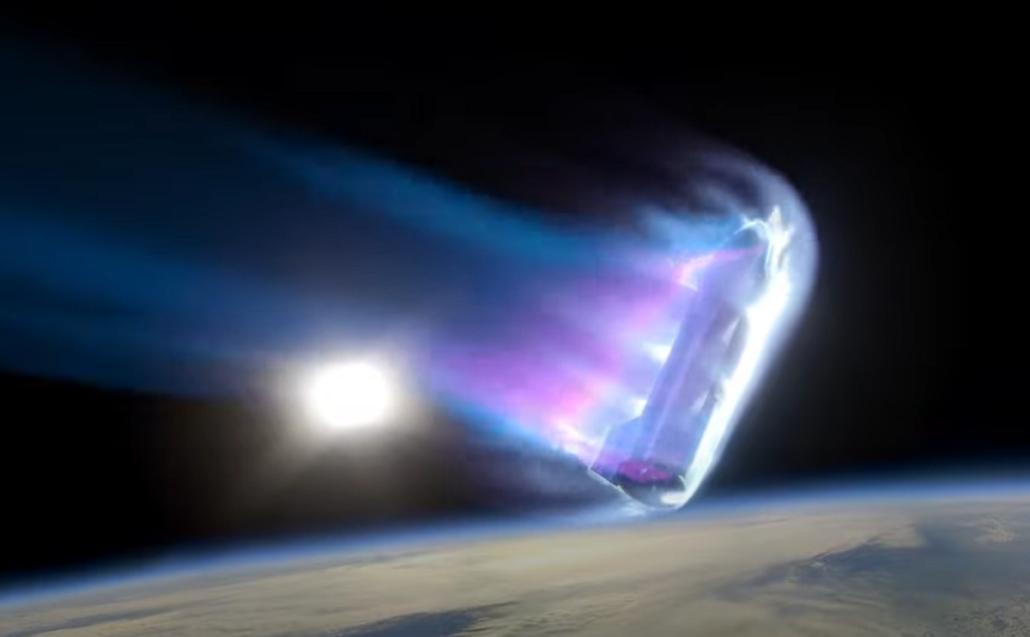 Space Starship Reentry plasma