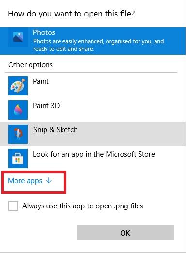 More App Options