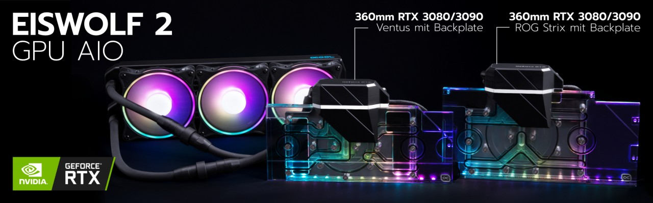 Alphacool Unveils Eiswolf 2 AIO Cooling Systems for Custom NVIDIA RTX 3090 & 3080 Models From ASUS & MSI