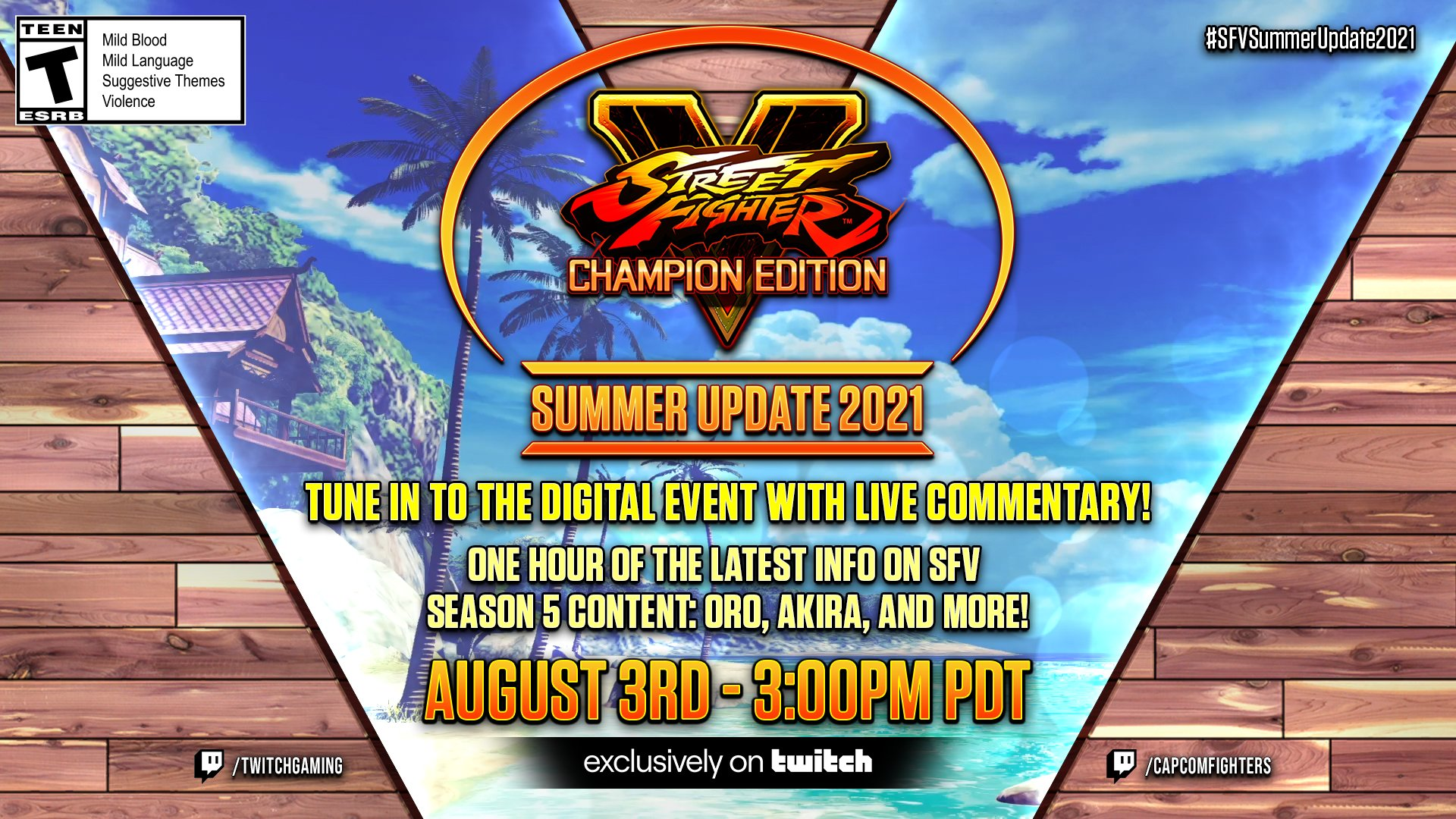 Street Fighter V: Champion Edition Summer Update 2021 Show to Provide Updates on Oro, Akira