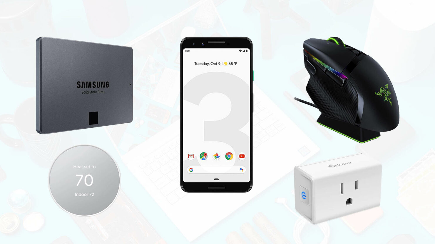 Samsung 2TB SSD for $190, Renewed Pixel 3 for $130, Basilisk X Ultimate Hyperspeed for $45 off, & More Deals for Today