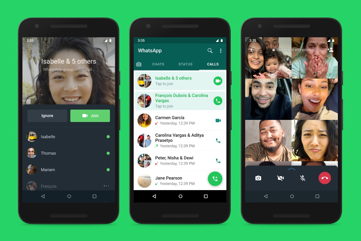 WhatsApp will let you join calls after they have started