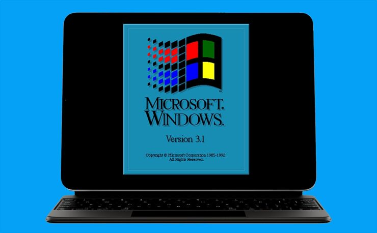 It is possible to install Windows 3.1 on iPad