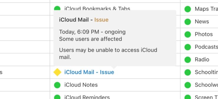 iCloud Mail is down for some users around the world