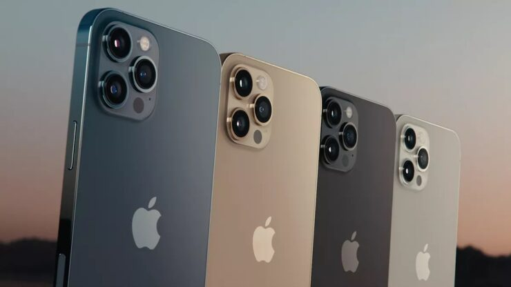 iPhone 13 Pro Colro options sunset gold and matte black