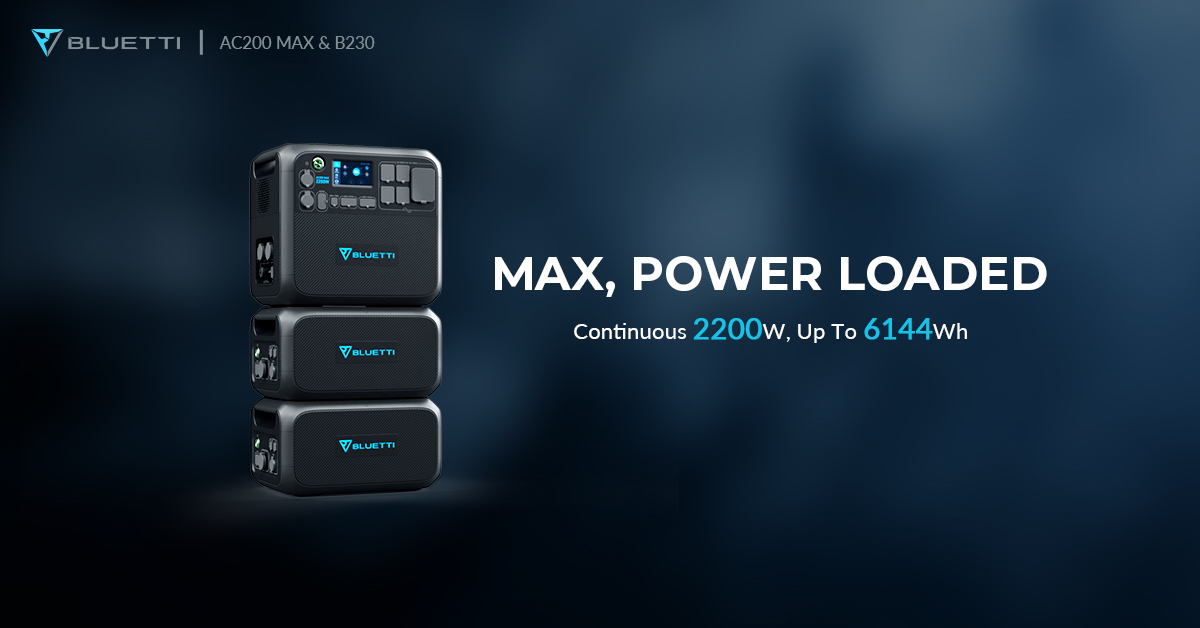 BLUETTI Announces AC300 & AC200 MAX, Up To 24.6kWh, 6000W Power Stations