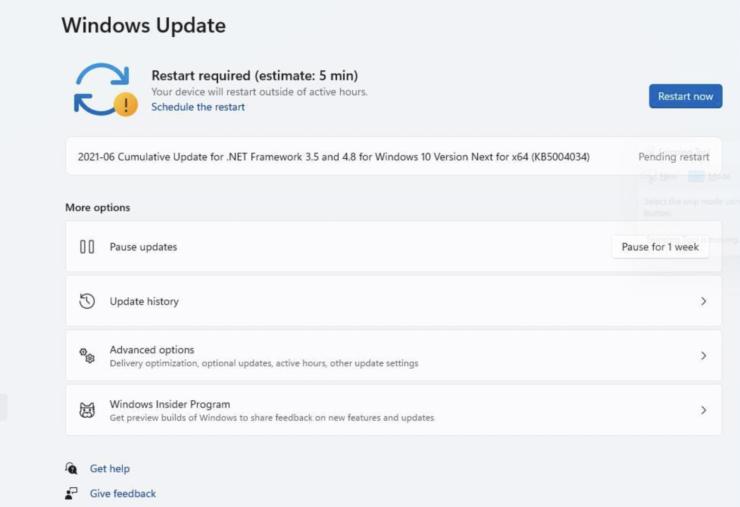 windows 11 update process