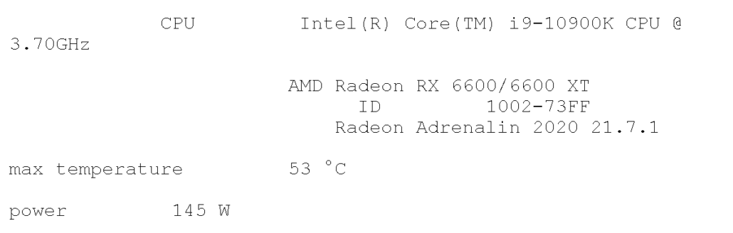 AMD Radeon RX 6660 XT Spotted in Geekbench with its OpenCL performance, temps and power numbers. (Image Source: TUM_APISAK)