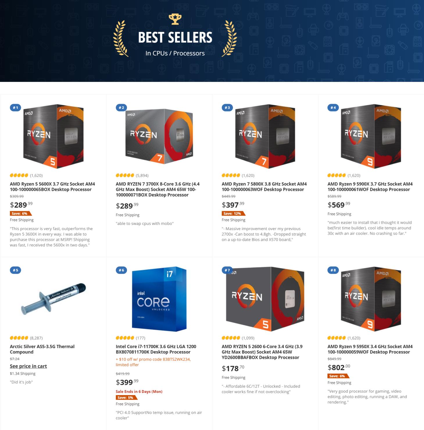 amd-ryzen-intel-core-best-seller-cpus-newegg