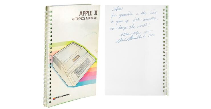 Steve Jobs' signed Apple II manual sold at auction