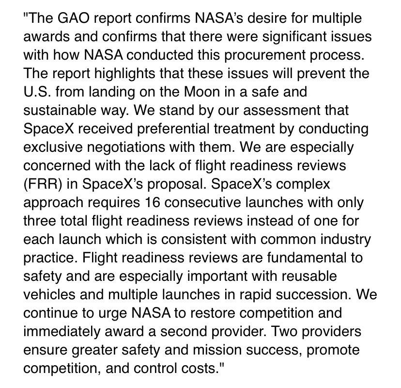 Blue Origin SpaceX Starship