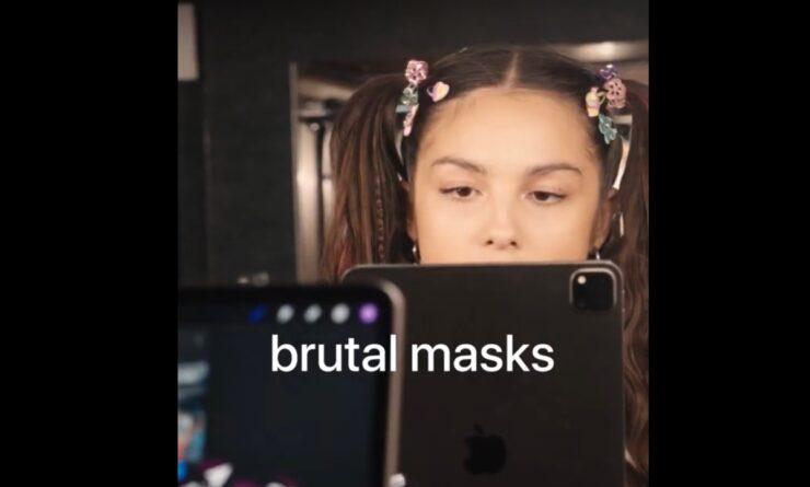 Brutal masks in music video created on iPad