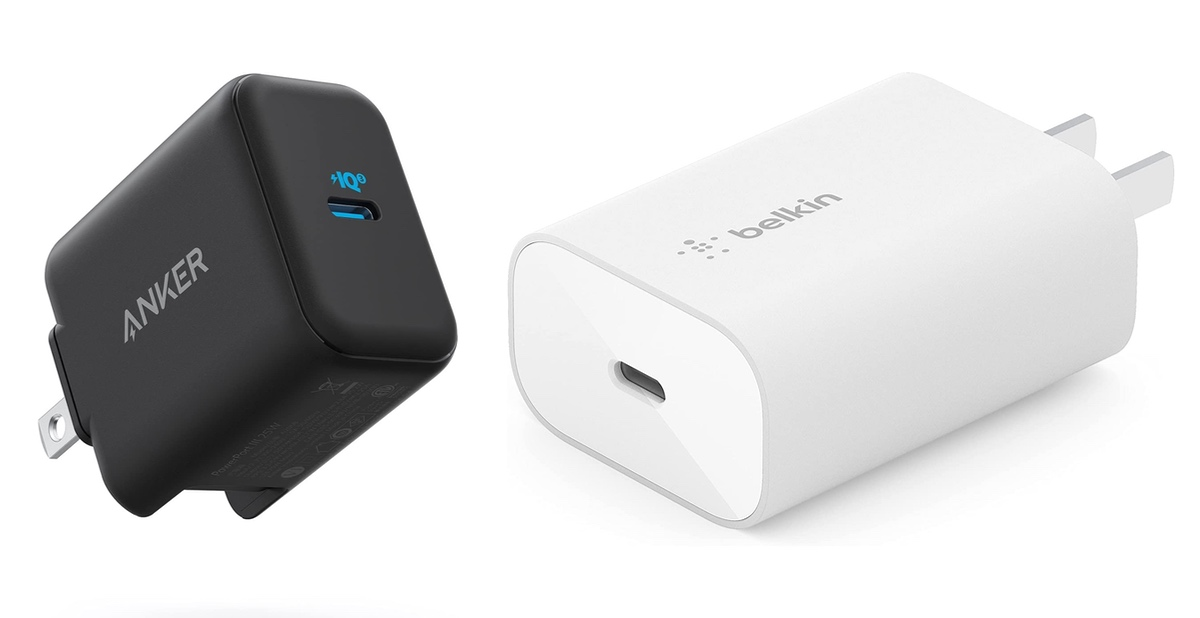 25W USB-C chargers compatible with Z Flip 3 and Z Fold 3