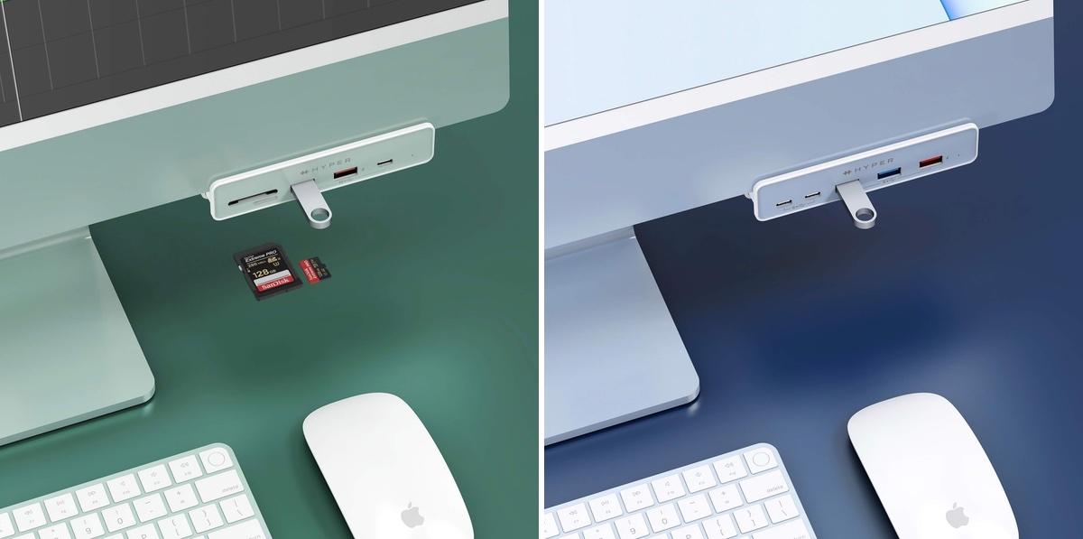 Hyper announces color-matched USB-C hubs for M1 iMac