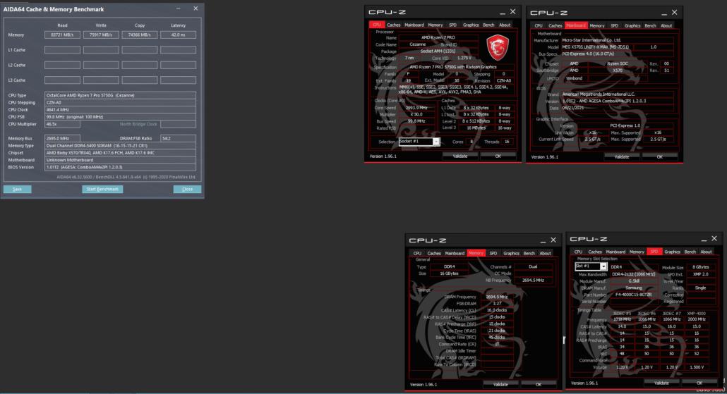 MSI MEG X570S Unify-X & AMD Ryzen 5000G With 2.70 GHz FCLK OC (LN2 Cooled)