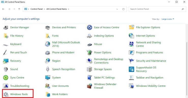 Open Windows Tools