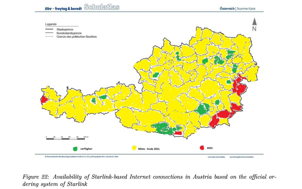 Starlink coverage Austria