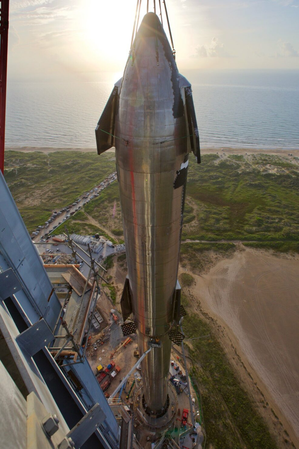 SpaceX Starship Super Heavy fully stacked