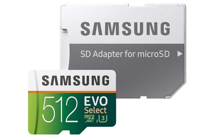 Samsung microSD 512GB card available for $59