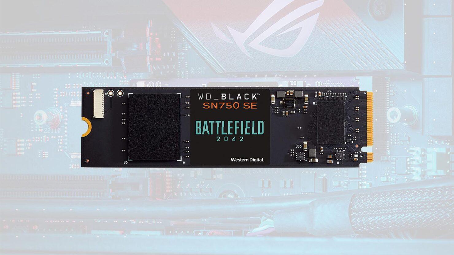 WD_BLACK SN 750 SE NVMe SSD Bundle Now Gives You a Battlefield 2042 Game Code