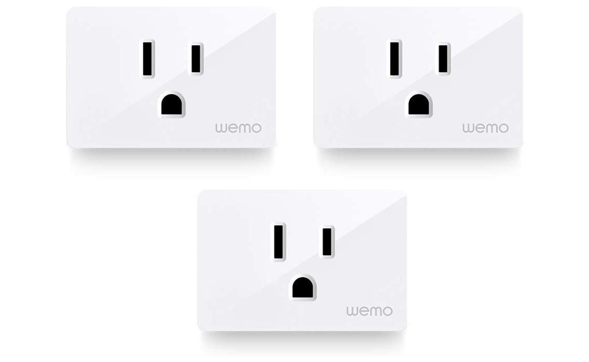 Grab three Wemo smart plugs for just $44.99