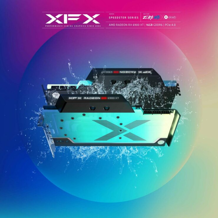 XFX's Custom EKWB Equipped Radeon RX 6900 XT Speedster ZERO WB Graphics Card Teased Again