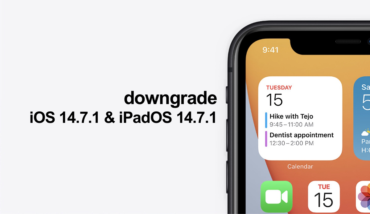 Downgrade iOS 14.7.1 to iOS 14.7 as long as Apple is signing the older firmware
