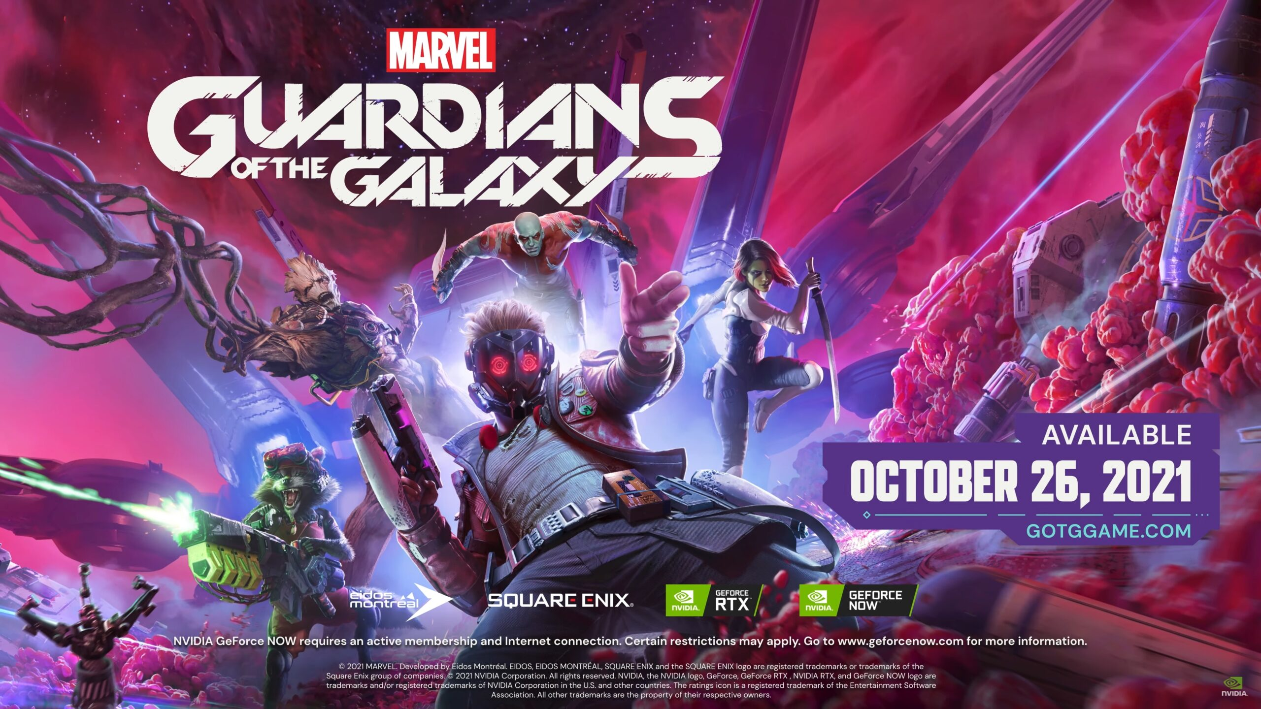 DLSS and Ray Traced Reflections will be supported in Marvel's Guardians of the Galaxy; DLSS and/or Ray Tracing will be added to Chivalry 2, Dying Light 2, and other games.