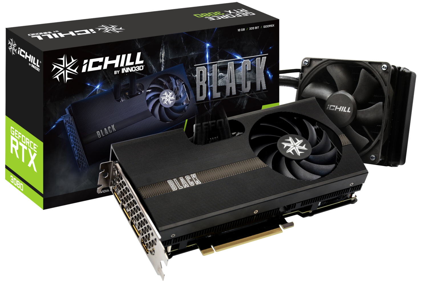 INNO3D NVIDIA GeForce RTX 3080 Ti iCHILL BLACK Graphics Card