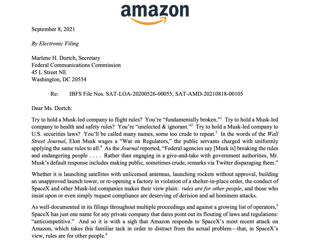 Amazon Starlink second generation satellites