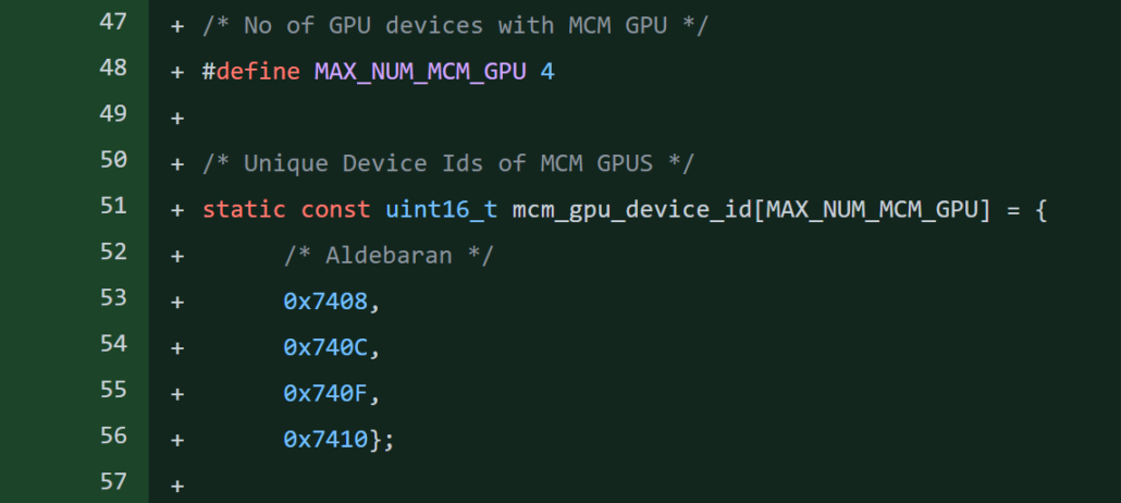 AMD Instinct MI200 Aldebaran CDNA 2 GPU Device IDs