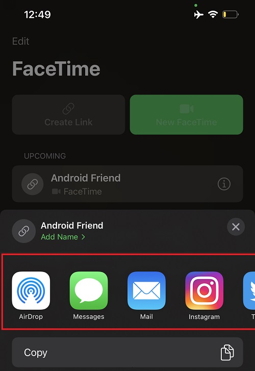 FaceTime Android users