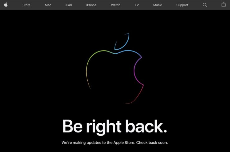 Apple Store goes down ahead of iPhone 13 event