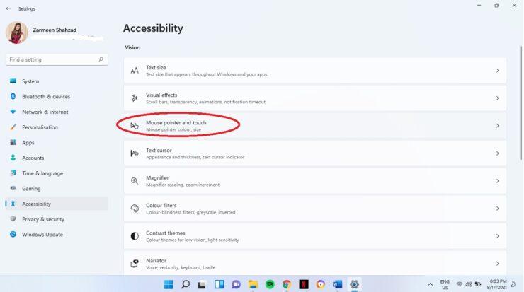 Change Mouse Cursor Color Windows 11