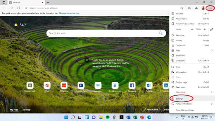 Change default browser on Windows 11