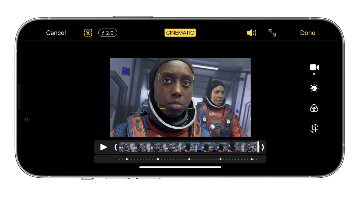 Clips and iMovie updated with iPhone 13 Cinematic mode support