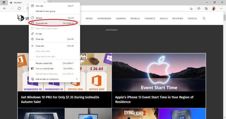 Create Duplicate Tabs in Browser