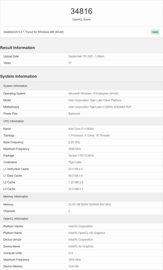 Intel ARC Alchemist 512 Core Xe-HPG GPU For Discrete Gaming Laptop Graphics