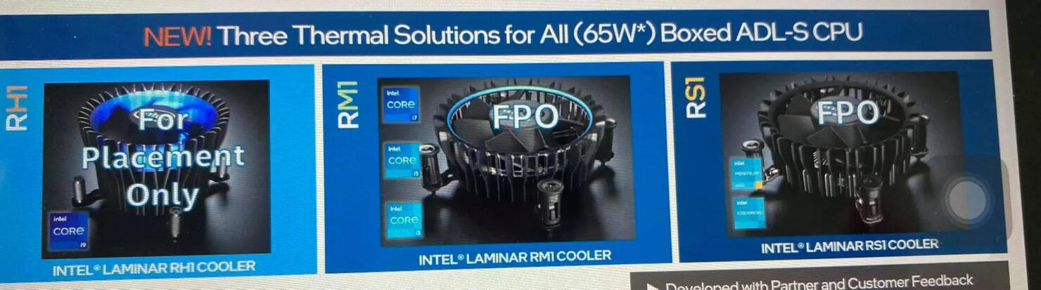 Intel Siapkan 3 Cooler Baru untuk Alder Lake