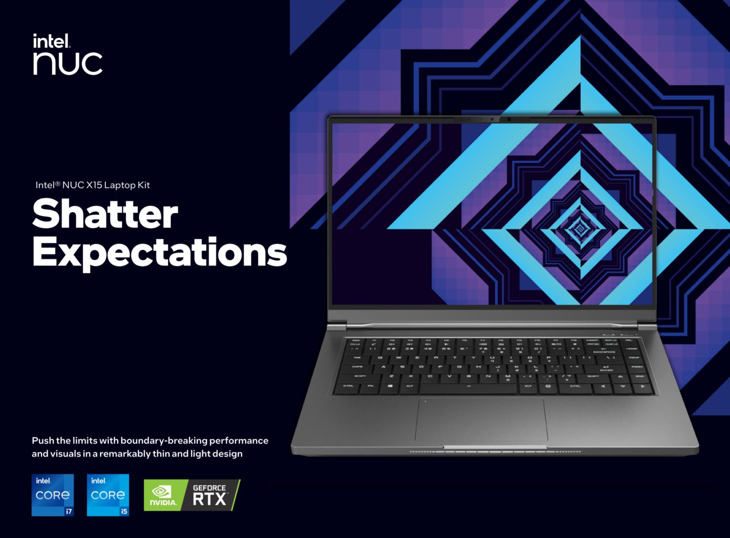 Intel Presents NUC X15 Reference Gaming Laptop Kit - Features Tiger Lake-H CPUs & GeForce RTX 30 Series GPUs