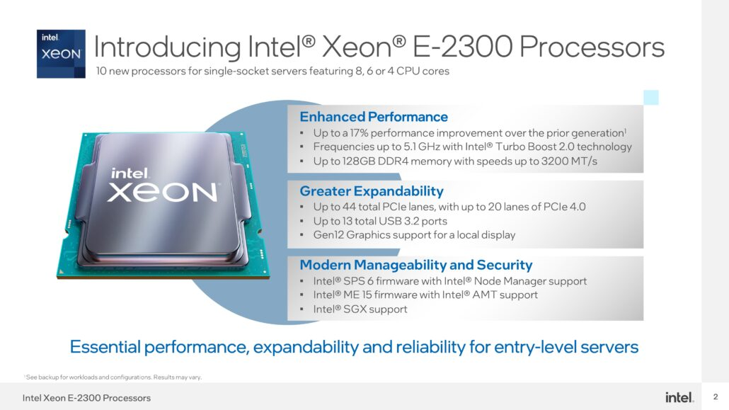 Intel's Xeon E-2300 Entry-Level Rocket Lake Server CPUs Launched For The LGA 1200 Platform