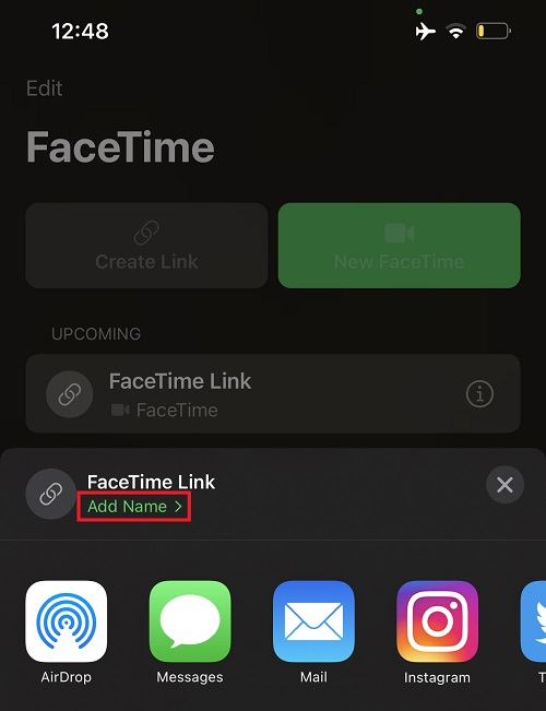 Invite Android users on a FaceTime call