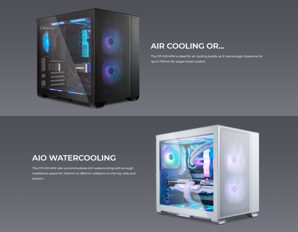 LIAN LI Launches O11 AIR MINI, A Small-Footprint Modular Case Focusing on Cooling & Starting at $109 US 2