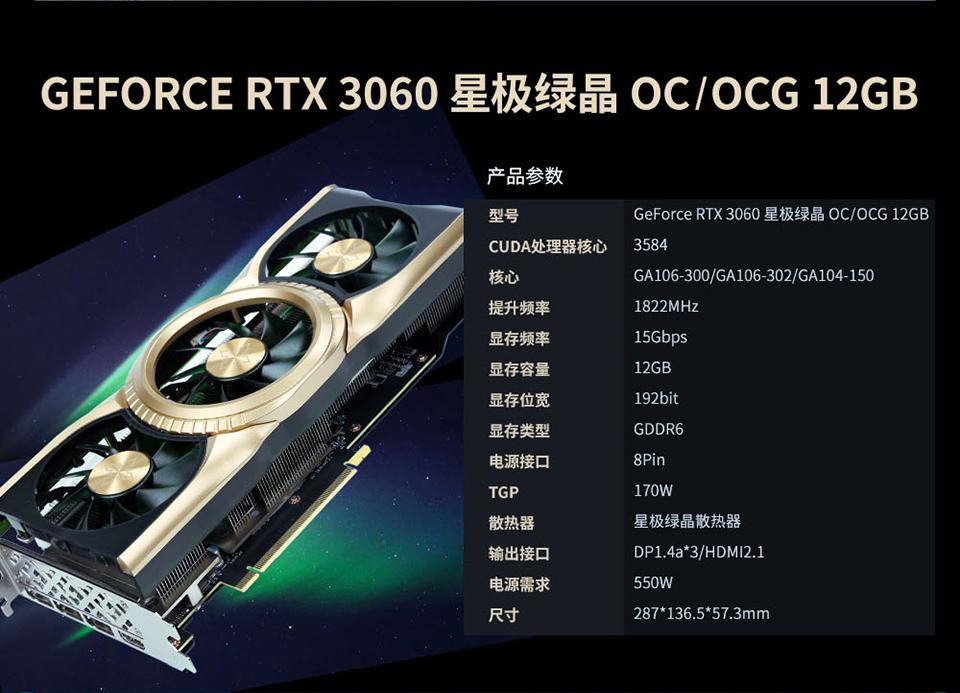 NVIDIA GeForce RTX 3060 Custom Models From Gainward & GALAX With Ampere GA104 GPU