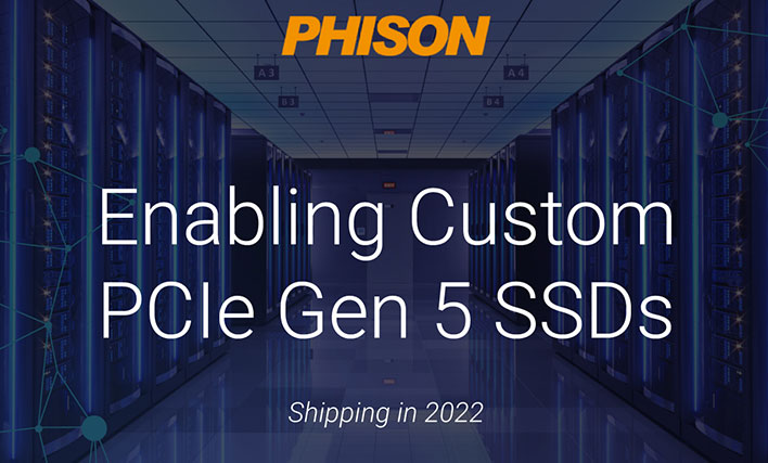 Phison's PCIe Gen 5.0 Ready SSDs With E26 Controller Start Shipping In 2022