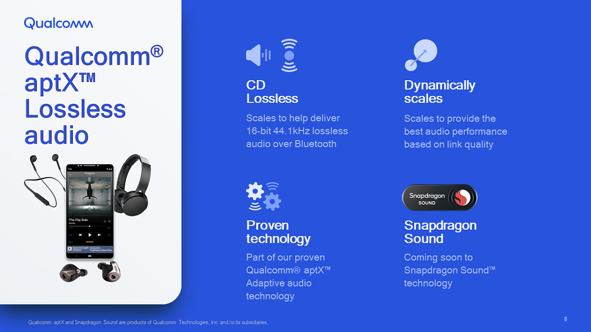 Qualcomm Announces aptX Lossless, Will Deliver CD Quality Over Bluetooth