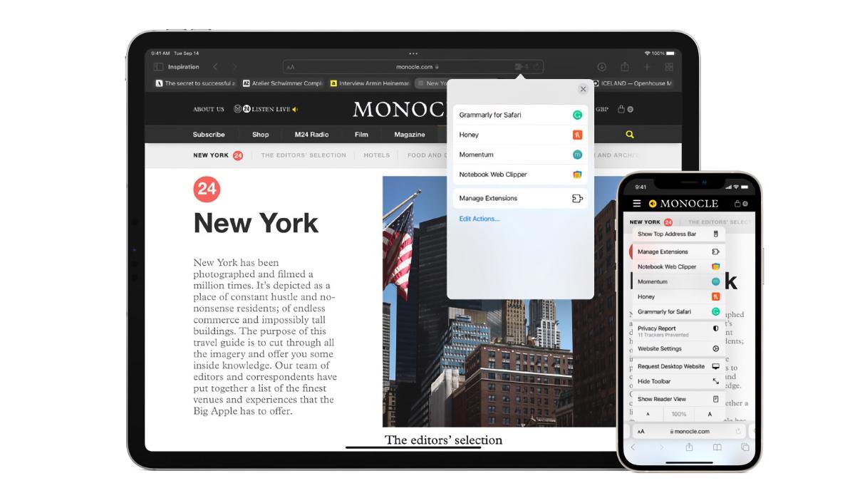 Disable colored tabs in iPhone, iPad, Mac Safari
