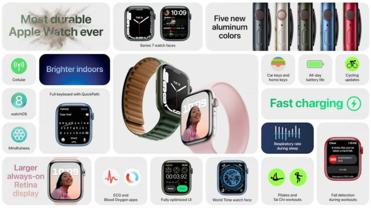 The New Apple Watch Series 7 Goes Official with a Larger Screen, Better Durability and More